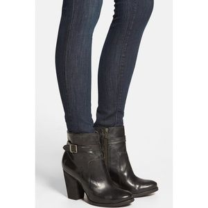 Frye Patty Black Leather Riding Booties